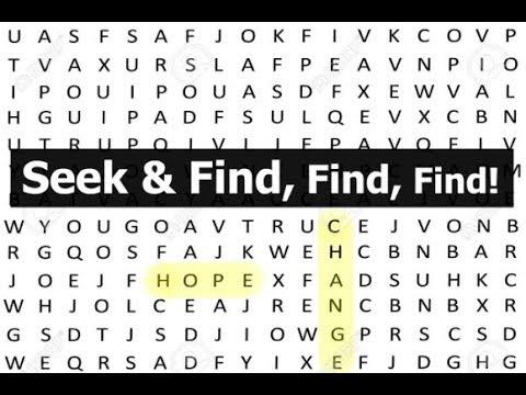 Seek & Find, Find, Find!