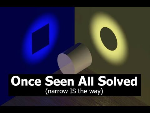 Once Seen All Solved...narrow IS the way!!