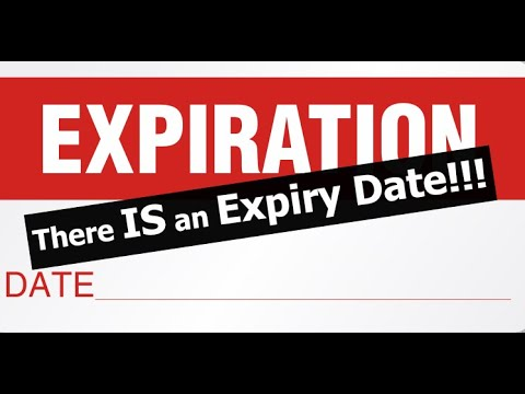 There IS an Expiry Date!!!