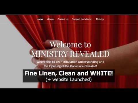 Fine Linen, Clean and WHITE! (+ website launched)